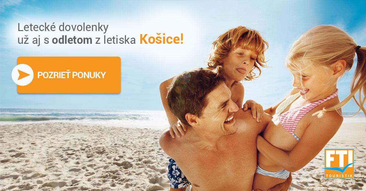 Letecké dovolenky z Košíc